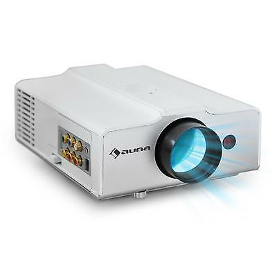 VIDEOPROJECTEUR LED COMPACT AUNA HDMI 800x600 PROJECTOR HOME CINEMA BLANC