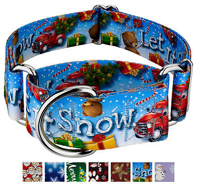 Country Brook Petz® 1 1/2 Inch Martingale Dog Collar - Christmas Collection