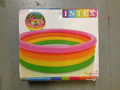 "Intex childrens inflatable swimming paddling pool. 66"" X 18"" ^"