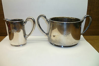 Vintage Cpr Canadian Pacific Railway Dining Car Cream And Sugar  C. 1920