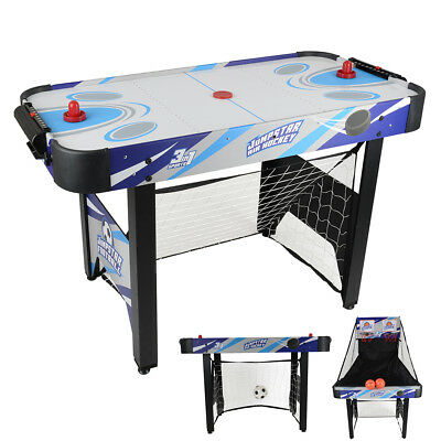 JumpStar 3-In-1 Multi Games Table Childrens Air Hockey Football Basketball 240V