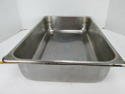 """Full Size Food Pan 4"""" Deep Stainless Restaurant Hotel Steamtable SKU B GS"""