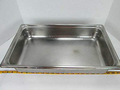 "Full Size Food Pan 4"" Deep Stainless Restaurant Hotel Steamtable SKU C GS"
