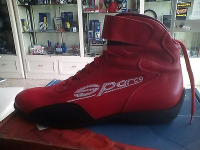 Scarpe Kart Sparco Stivaletto In Pelle Tg 37-39-41-42-45  Karting Boots Schuhe