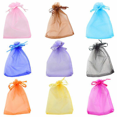 10X12cm 100X Organza Wedding Xmas Favor Candy Gift Wrapping Bags Jewelry Pouches