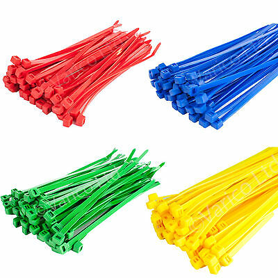 Coloured Cable Ties Green Red Blue Yellow Cable Ties Wraps 200mm X 4.8mm
