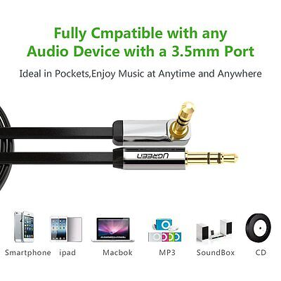 Ugreen Audio Stereo 3.5mm Male Jack Cable Quality Cord Aux Car Phone iPod MP3 PC