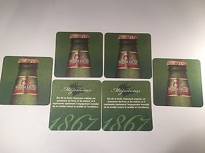 SET OF 6 Moosehead BEER MAT COASTER SOUS-BOCK