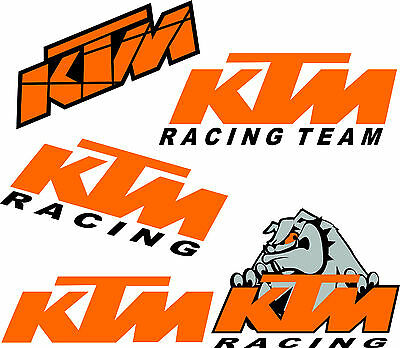 Kit 2 Adesivi ktm kit  Racing team Moto Motocross Enduro adesivo STICKERS decal