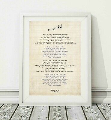206 BIRDY - Wings - Song Lyric Art Poster Print - Sizes A4