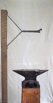 Metal plant hanger tradition Blacksmith hand forged angle style
