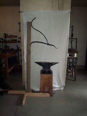 metal plant hanger tradition Blacksmith hand forged scroll style