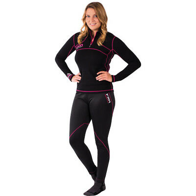 FXR Womens Black 48% Expedition Snowmobile 1/4 Zip-Up Pullover Base Layer Snow