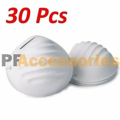30 Pcs Disposable Face Dust Mask w/ Strap Breathing Filter for Painters