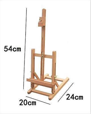 Wooden Table Top Easel Art Sketch Paint Artwork Canvas Holder Display Stand 54cm