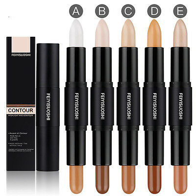 3D Face Doppel-Ended 2 in 1 Contour Stick Contouring Highlighter Bronzer Make Up