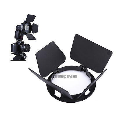 Flash Adapter Kit Accessory K9/K-9 Barndoor for Speedlite Speedlight Flash