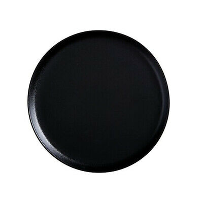 4x Round Plate, 26.5cm, With Lip, Black, 'Caviar', Maxwell & Williams, Crockery