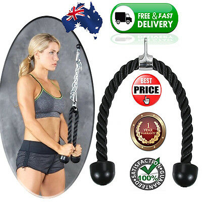 Tricep Rope GYM Cable Attachment Extension Add-on Machine Part Equipment