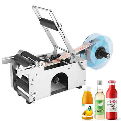 Hot Item Mt-50 Semi-Automatic Round Bottle Labeling Machine Labeler Machine