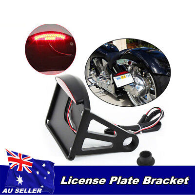 License Plate Bracket Side Mount Tail LED Brake Light 4 Harley Davidson Chopper