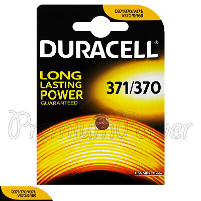 1 x Duracell Silver Oxide 371 370 1.5V battery watch DL371 V371 V370 SR69