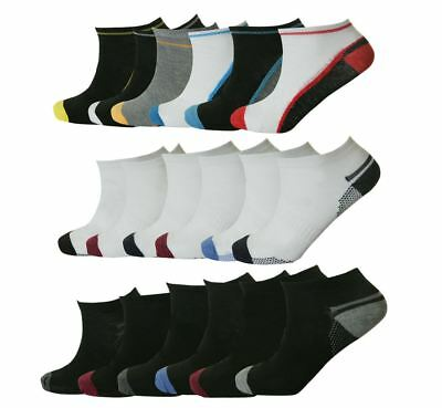 Mens Trainer Liner Ankle Socks Funky Designs Adults 6 & 12 Pairs Sports UK 6-11