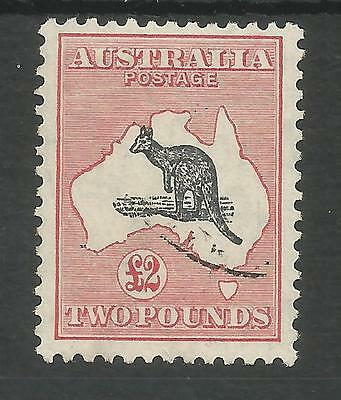 Australia  Sg138 The 1934 Gv £2 Black & Rose Roo Die 2 Fine Used Cat £600