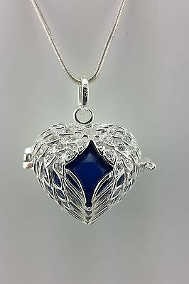 925 Sterling Silver Angel Wings Hollow Locket Gift For Her