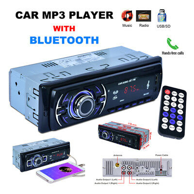 Autoradio Bluetooth Stereo Auto Radio Fm Mp3 Lettore Sd Card Usb Dvd Cd 12V Dc