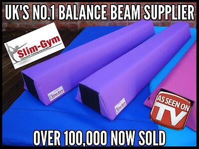 8Ft Junior Gymnastic Gym Foam Training Balance Beam By Slim-Gym 'purple'