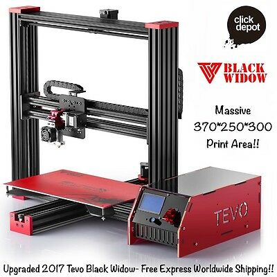 TEVO 2016 BLACK WIDOW 3D PRINTER DIY KIT-HUGE 370x250x300 PRINT AREA!! STANDARD