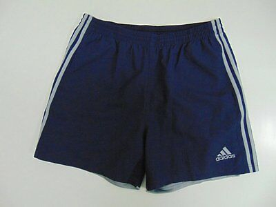 2000 2015 Adidas navy blue Men's shorts retro soccer football running vintage L
