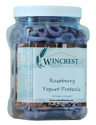 Raspberry Yogurt Pretzels - 1.5 Lb Tub - Free Expedited Shipping!