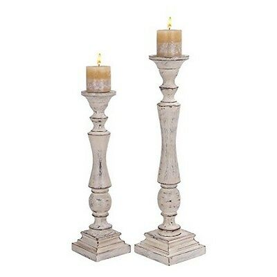 Deco 79 14314 Wood Candle Holder- White- 23 by 19-Inch NEW