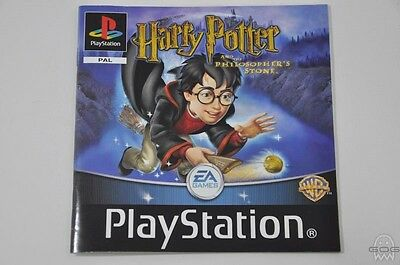 ORIGINAL MANUAL - HARRY POTTER & THE PHILOSOPHERS - PlayStation - Sony - PS1
