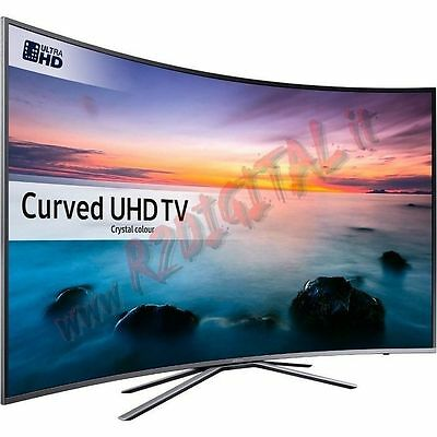 "Tv Samsung Led 49"" Curvo Ultra Hd Smart 4K 49Ku6172 Uhd Dvb-T2 Sky Usb Iptv Cam"