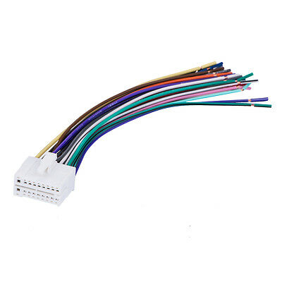 new 12 pin clarion radio wire harness wiring stereo plug • 7 99 for clarion 18pin stereo radio wiring wire harness skcl18 21