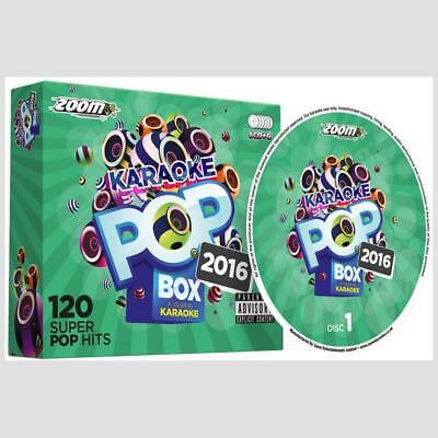 Karaoke CDG Discs - Zoom Pop Box Hits Of 2016, 120 Chart Hits 6 CD+G Disc Set