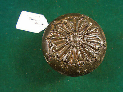 1905 Cast Iron Victorian Barrows Door Knob - Blumin I-103 'ontario'  (2286-B)