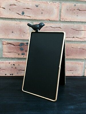Black Board Chalkboard Wedding Table Place Number Name With Chic Bird Decoration