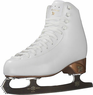 New Risport Antares Figure Skates White Size 215  USA 2  Rated Single Jumps