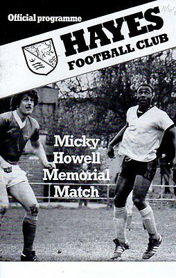 Hayes v QPR XI 18.10.1983 Micky Howell Memorial Match