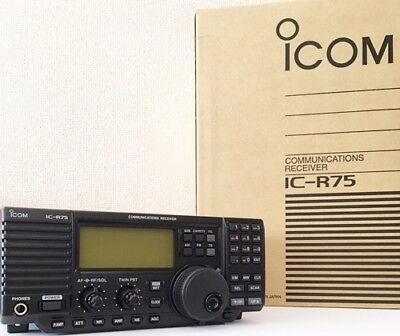 NEW ICOM IC-R75 USB/LSB/CW/RTTY/AM/FM 0.03-60Mhz HF Desktop Radio Receiver JAPAN