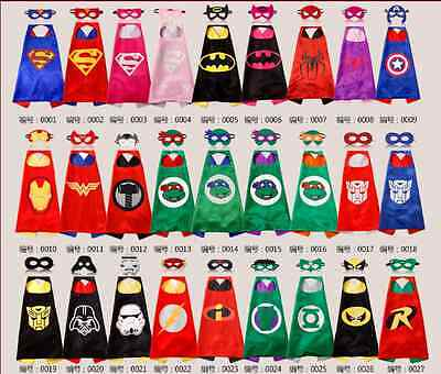 Superhero Cape (1 cape+1 mask) set for kids birthday party favors and ideas !!!