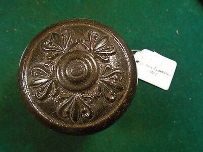 1905 Heavy Victorian Cast Iron Door Knob  Blumin I-115, 5 Fold Symmetry  (2286E)