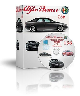 Alfa Romeo 156 Complete Workshop And Service Manual DVD