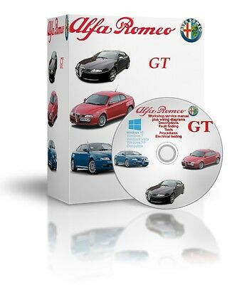 Alfa Romeo GT Complete Workshop And Service Manual DVD
