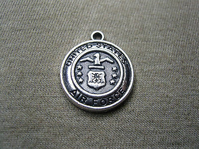 UNITED STATES Air Force Military Medallion antiqued silver charm