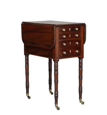 19Th Century William Iv Mahogany Drop Leaf Side Table